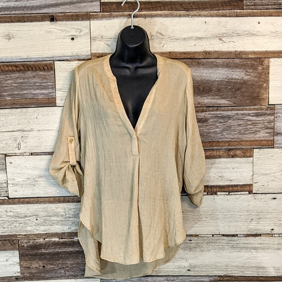 Lush Tops - Lush Super Soft Rolled Sleeve Tunic Top xs